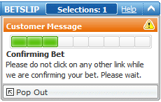 PaddyPower's In-Play Bet Placement Delay Screen