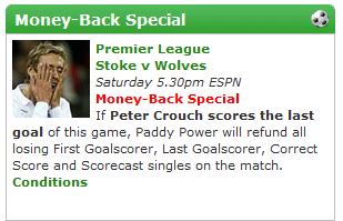 Paddy Power Refund/Money Back Offer