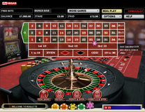 Roulette single split corner and line payout on line