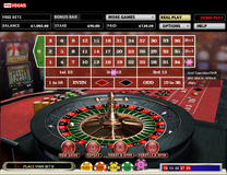 Roulette payouts on columns and dozens