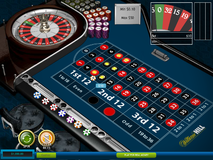 Roulette bet on a line